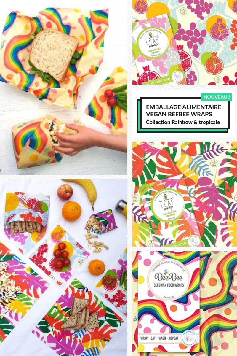 Nouvelle collection tropicale & rainbow BeeBee Wraps