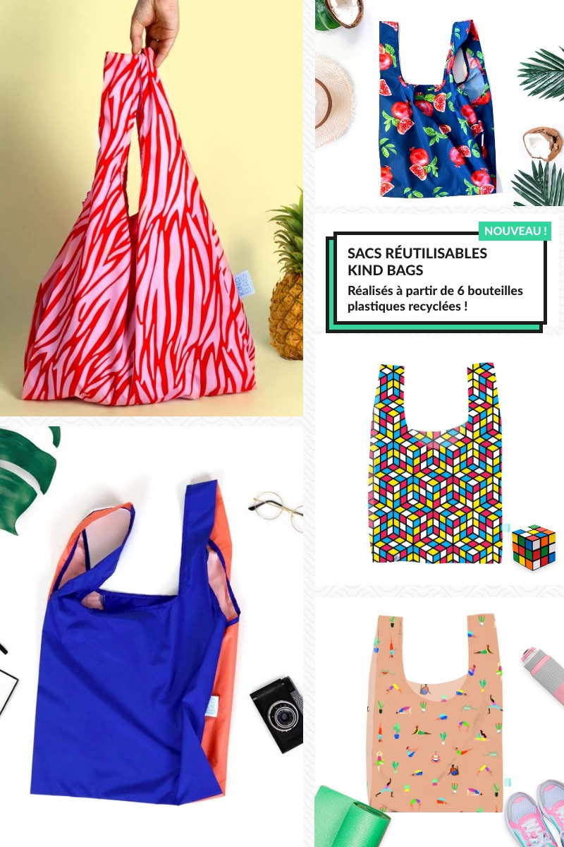 Nouvelle collection sacs réutilisables Kind bags