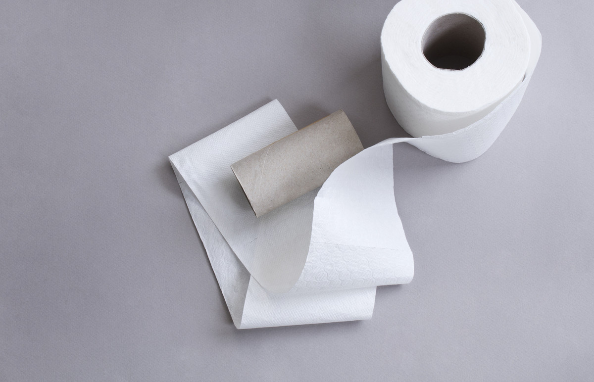 Papier toilette déchet