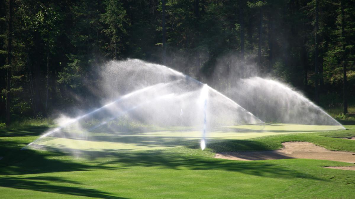 Arrosage terrain de golf