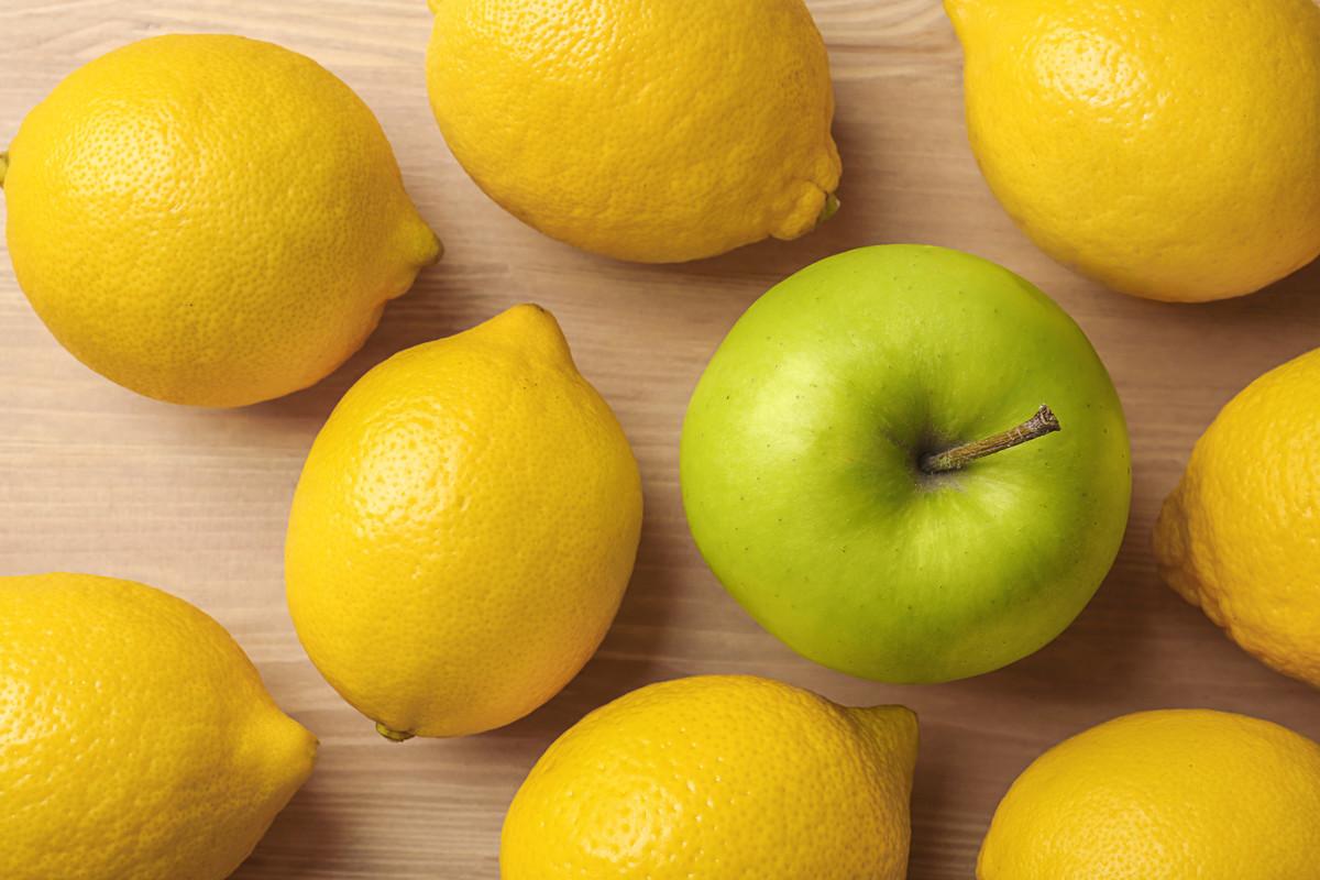 Masque visage DIY à base de pomme et citron