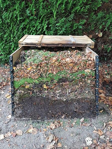 Differentes couches de compost