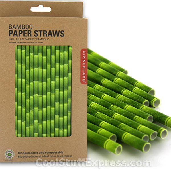 Pailles biodegradables