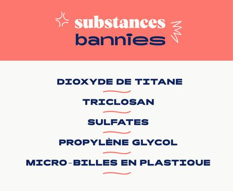 Substances bannies du dentifrice Paos
