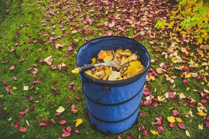 Ramasser les feuilles en automne