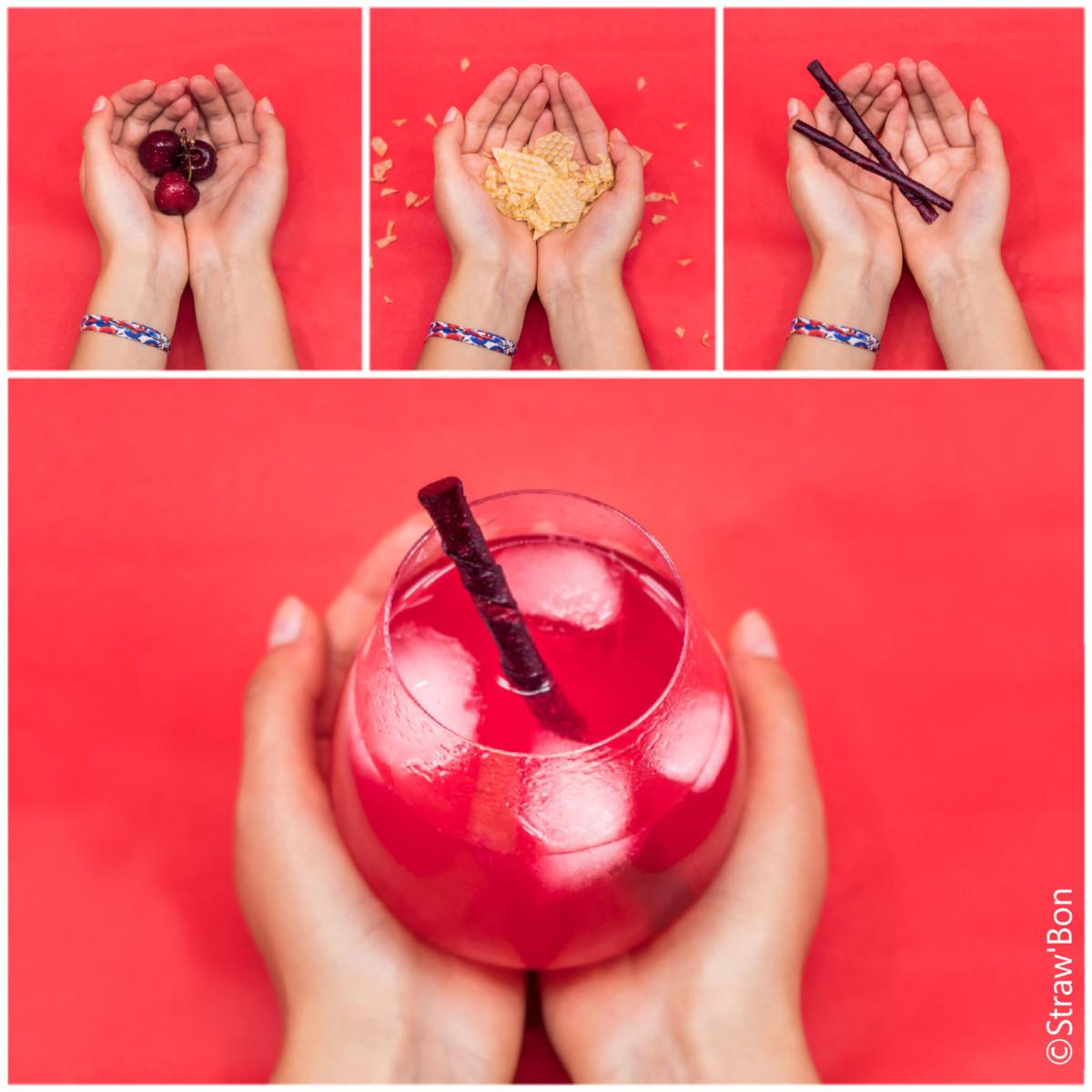 Trois étudiantes créent Straw'Bon, une paille comestible à base de fruits