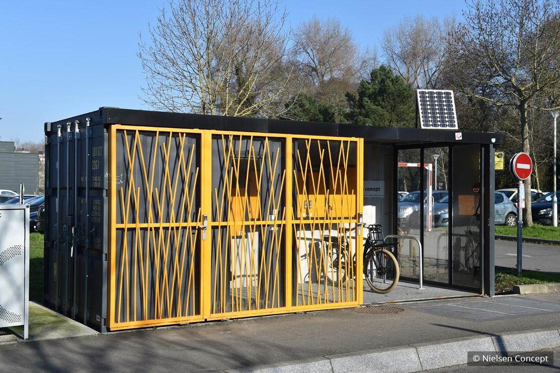 Nielsen Concept crée le Mobilypod, un abri à vélos sécurisé et intelligent