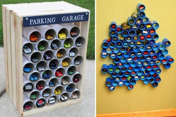 Garage pour petites voitures DIY