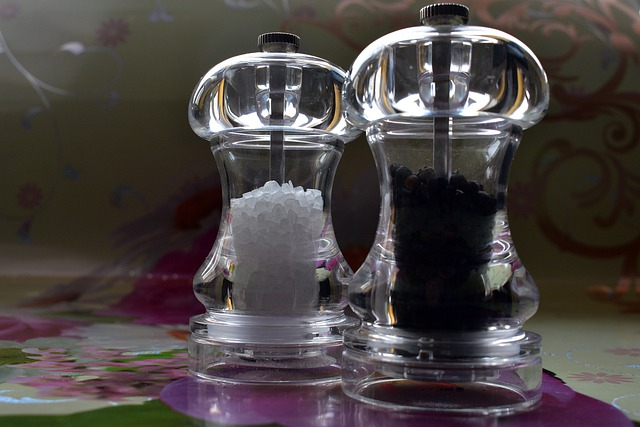 Set en verre à condiments de table