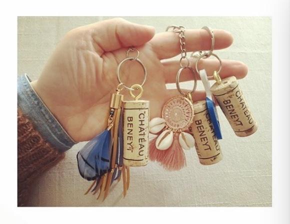Porte-clefs en liège