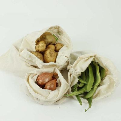 Mix de 3 sacs à vrac en coton bio