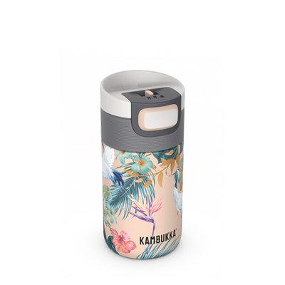 Mug isotherme Etna Paradise Flower 300 ml inox et tritan sans BPA anti fuite