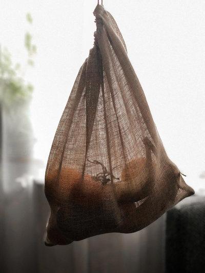 Sac à vrac en voile de lin Taille L 35 x 30 cm