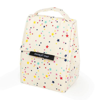 Sac isotherme Lunch Bag Stars en coton bio
