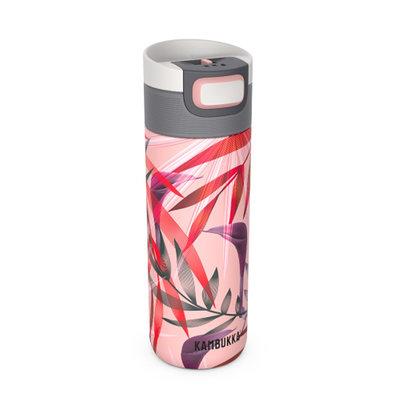 Mug isotherme Etna Trumpet flower  inox tritan sans BPA anti fuite