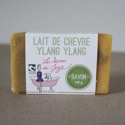 Savon surgras au lait de chèvre et Ylang Ylang 100 g