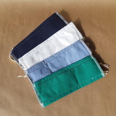 Masque barrière lavable à lanières mixte et uni en coton
