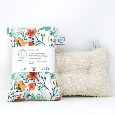 Eponge lavable en coton biologique ANOUK