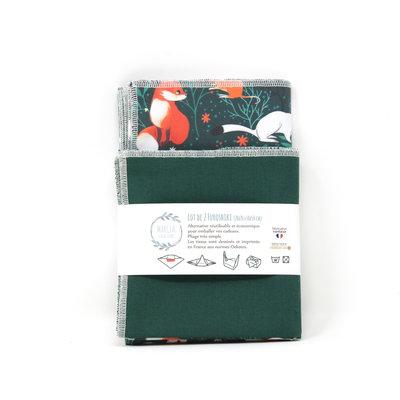 Emballage cadeau Furoshiki en coton LOUIS X2