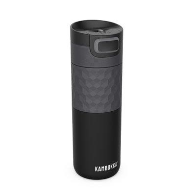 Mug isotherme acier noir Etna Grip Black Steel  inox tritan sans BPA anti fuite