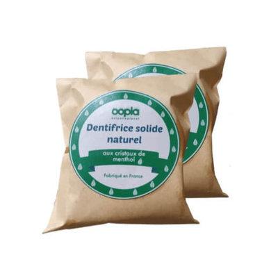 Recharge dentifrice solide aux cristaux de menthol vegan 30gx2
