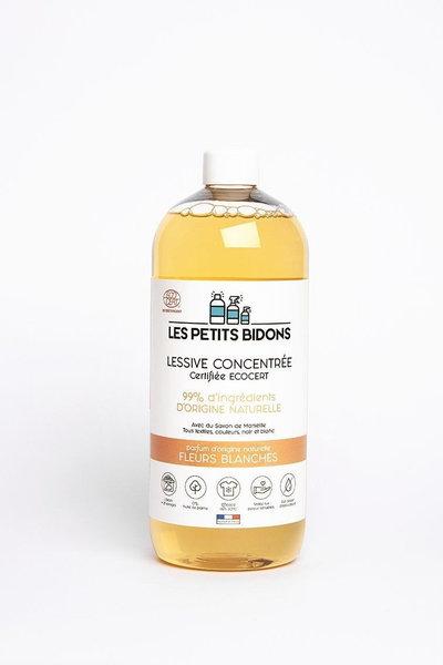 Lessive écologique concentrée parfum fleurs blanches1 l