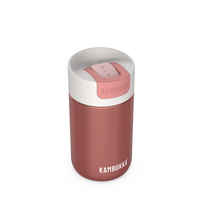 Mug isotherme Olympus Misty Rose 300ml inox et tritan sans BPA anti fuite
