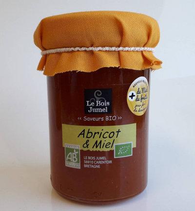 Confiture d'abricots et miel bio 250 g