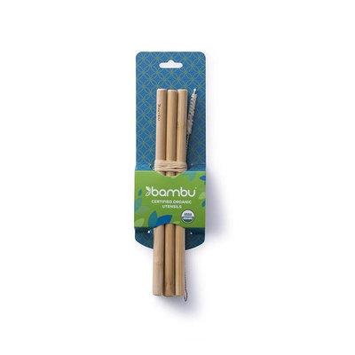 6 pailles précisions en bambou et goupillon