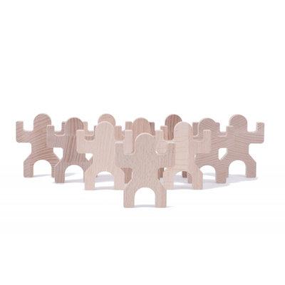 Boîte de 10 pièces pour jeu de construction en bois Tiki