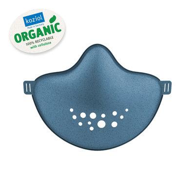 Masque de protection HI en plastique recyclable bleu foncé