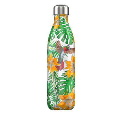 Bouteille Tropical flower 750 ml inox, isotherme et sans BPA