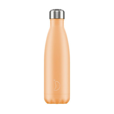 Bouteille orange pastel 500 ml inox, isotherme
