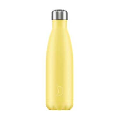 Bouteille jaune pastel 500 ml inox, isotherme