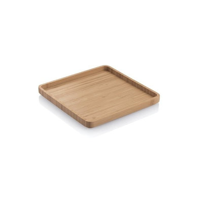 Plateau de service en bambou carré20,5 x 20,5 x 2cm