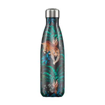 Bouteille Tropical Leopard 750 ml, inox, isotherme