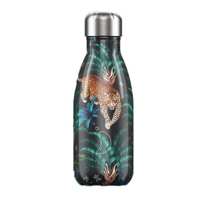 Bouteille Tropical Leopard 260 ml, inox, isotherme