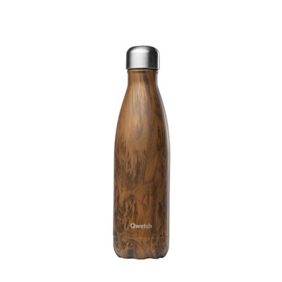 Bouteille Wood bois 500 ml inox, isotherme