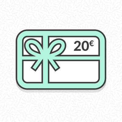 Carte cadeau zéro déchet d'une valeur de 20€