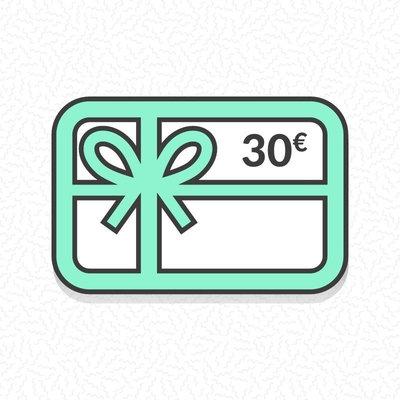Carte cadeau zéro déchet d'une valeur de 30€