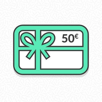 Carte cadeau zéro déchet d'une valeur de 50€
