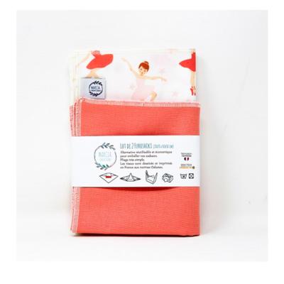 Emballage cadeau Furoshiki en coton LOU X2