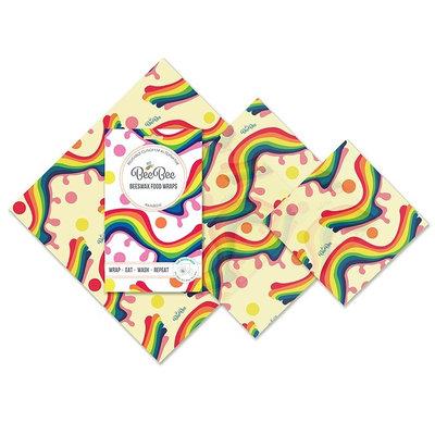 3 emballages alimentaires réutilisables Rainbow