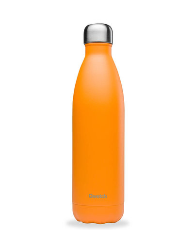 Bouteille orange pop 750 ml inox, isotherme et sans BPA