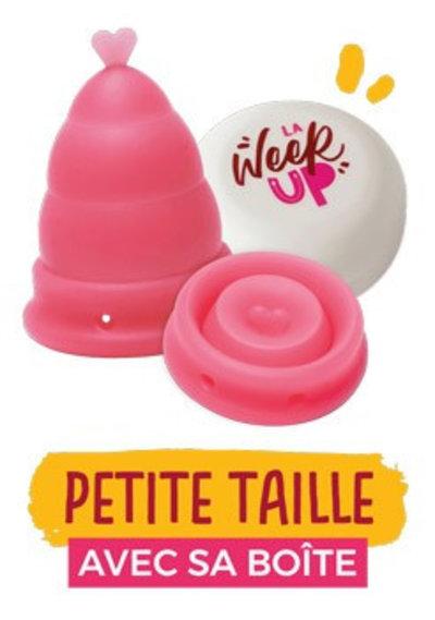 Coupe menstruelle pliable avec boîte «La Week'Up» rose - Petite taille