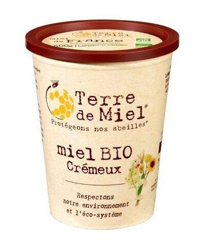 Miel crémeux biologique de France pot en carton 500 g