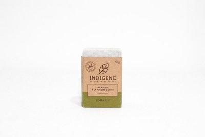 Shampoing solide à la poudre d'ortie cheveux gras parfum romarin 65g