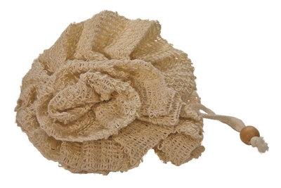 Fleur de bain en sisal 100% naturelle et biodégradable