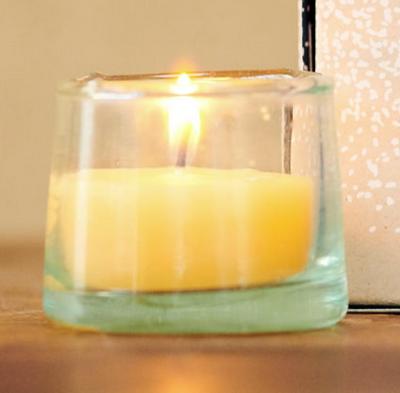 4 bougies BELDI à base de cire d'abeille 100% naturelle