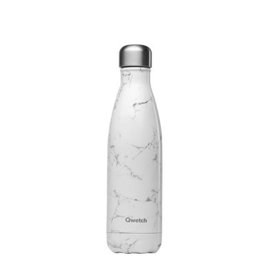 Bouteille Marbre blanc 500 ml inox, isotherme